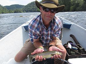 fly fishing the Hiwassee River